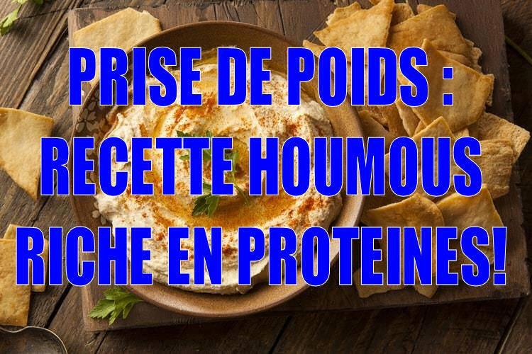 Idée d'encas protéiné pour la prise de poids : l'Houmous