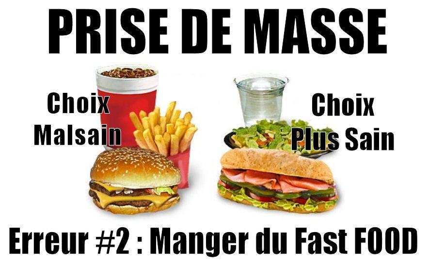 PRISE DE MASSE : Erreur 2 : Manger du fast-food
