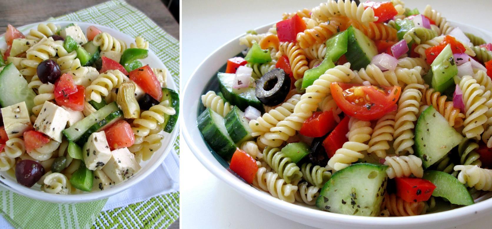 Salade repas protéiné au tofu :