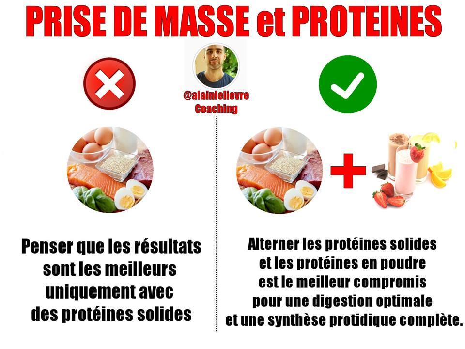Une autre erreur en prise de masse : Ne pas consommer de protéines en poudre