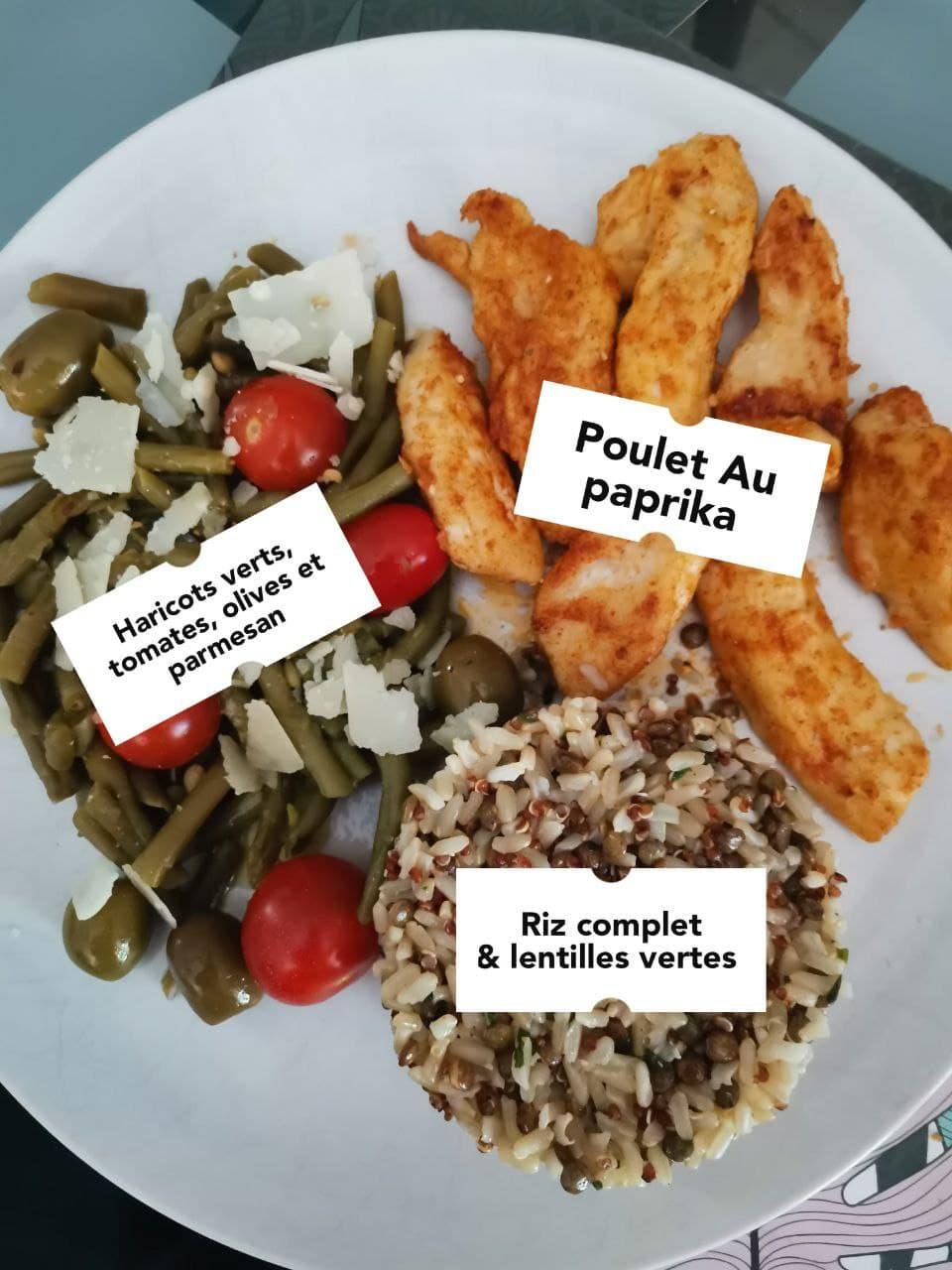 Exemple Repas prise de mase saine