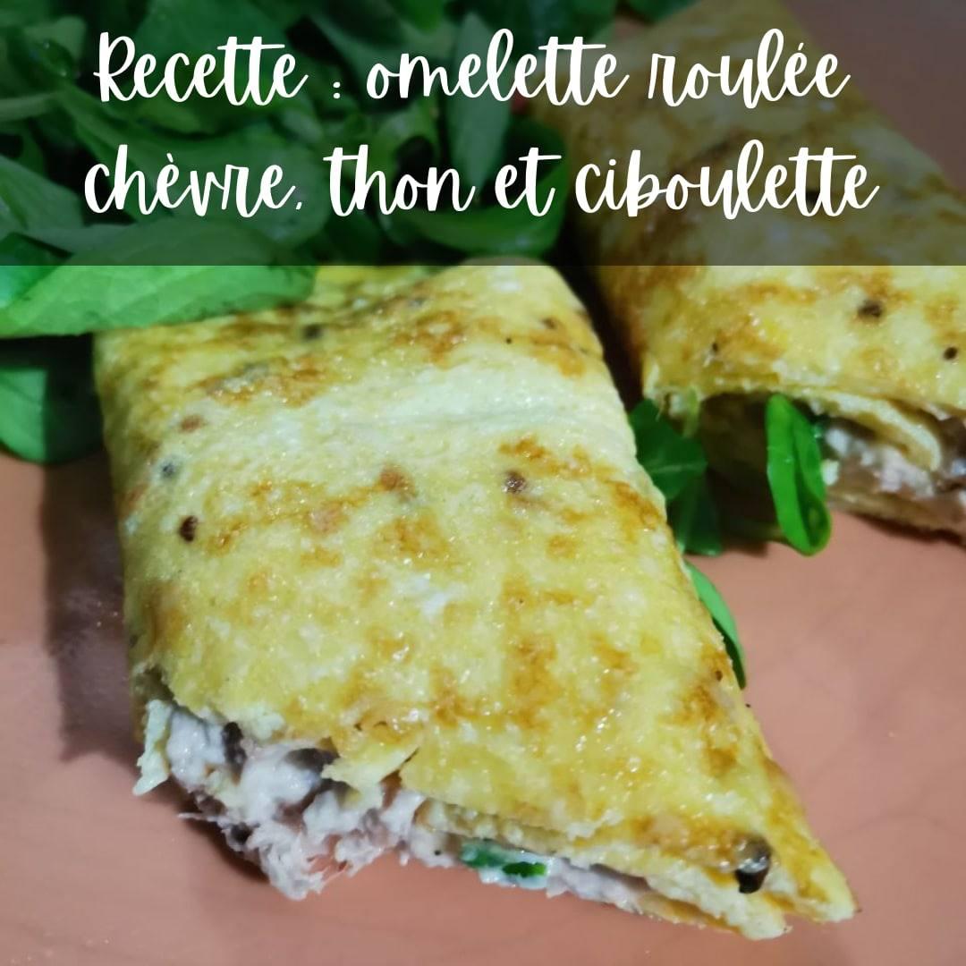 Recette riche en protéines : Omelette à la chèvre et thon